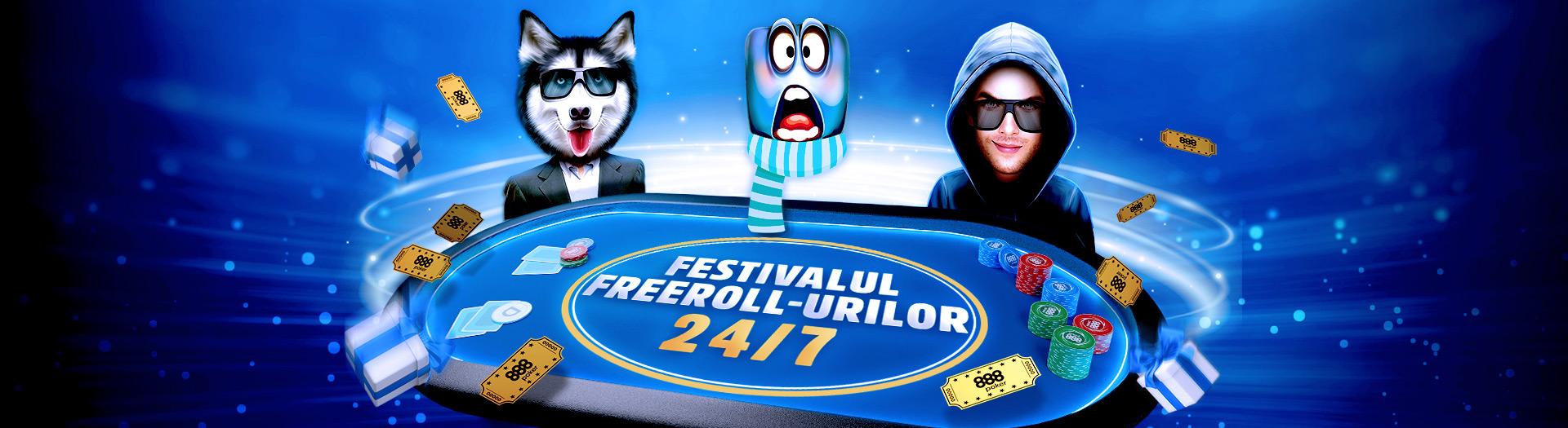 Festivalul Freroll-urilor pe 888. Premii de peste $100.000 la freeroll-uri non-stop