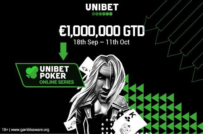 Unibet Poker Online Series cu €1.000.000 Gtd. in perioada 18 septembrie – 14 octombrie pe platforma Unibet